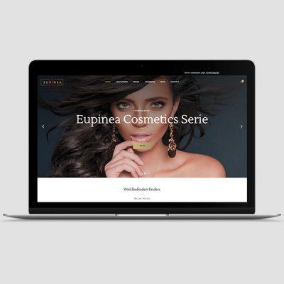 Eupinea Cosmetics Webseite, Referenz Werbeagentur Ramses, Salzburg, Onlinemarketing, Webseite, Grafik, Web, Online, Marketing, Werbung