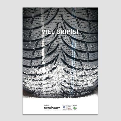 Design Broschüre Autohaus Picker, Referenz Werbeagentur Ramses, Salzburg, Print, Grafik, Printmedium, Folder, Broschüre, Design, Auto, Werbung, Marketing, Reifen