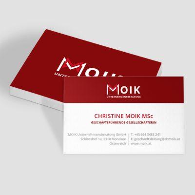 Moik Visitenkarte Design, Referenz Werbeagentur Ramses, Salzburg, Print, Marketing, Design, Grafik, Werbung