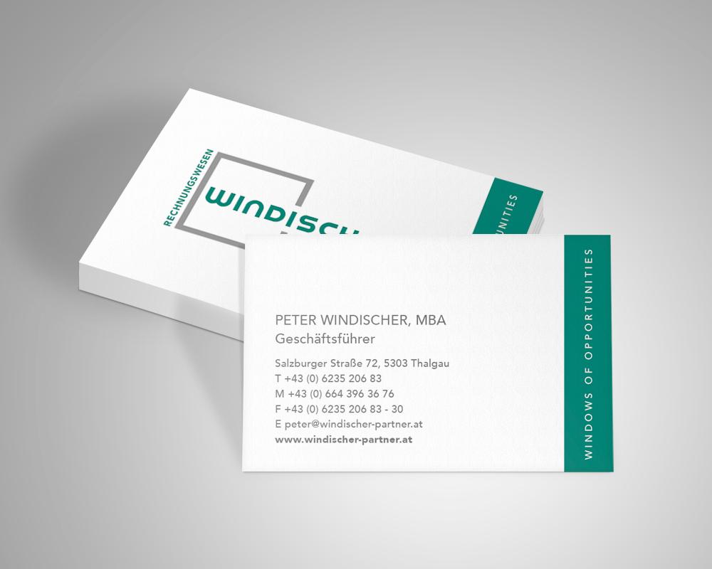 Windischer Visitenkarte Design, Referenz Werbeagentur Ramses, Salzburg, Print, Marketing, Design, Grafik, Werbung