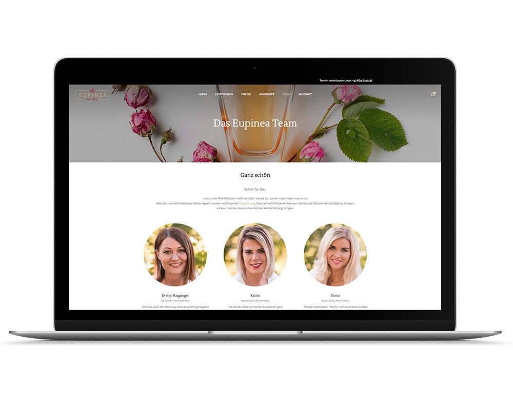 Eupinea Cosmetics Salzburg Webseite, Referenz Werbeagentur Ramses, Salzburg, Onlinemarketing, Webseite, Grafik, Web, Online, Marketing, Werbung