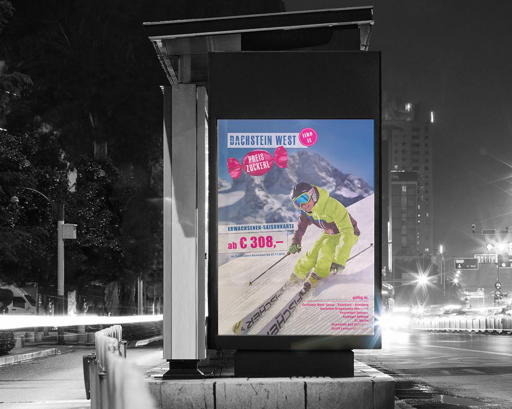 Dachstein West Billboard, Salzburg, Werbung, Marketing, Referenz Werbeagentur Ramses, Print, Klassisches Marketing, Printmedium