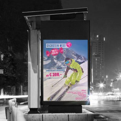 Dachstein West Billboard, Werbeagentur Ramses Salzburg, Werbung, Marketing, Werbemittel, Print