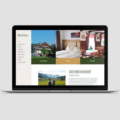 Kirchenwirt Gosau Webseite, Referenz Werbeagentur Ramses, Salzburg, Onlinemarketing, Webseite, Grafik, Web, Online, Marketing, Werbung