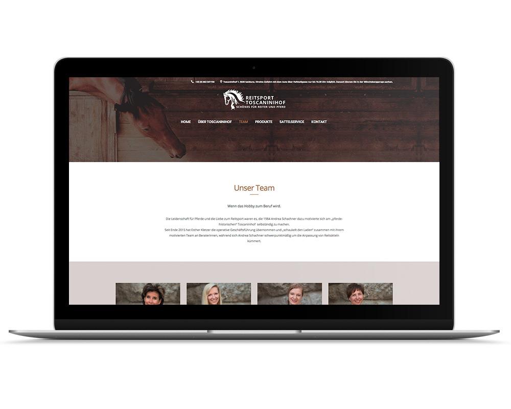 Reitsport Toscaninihof Salzburg Webseite, Referenz Werbeagentur Ramses, Salzburg, Onlinemarketing, Webseite, Grafik, Web, Online, Marketing, Werbung