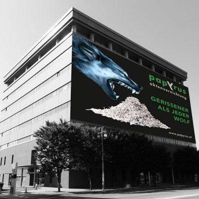 Papyrus Billboard, Referenz Werbeagentur Ramses, Salzburg, Print, Marketing, Werbung